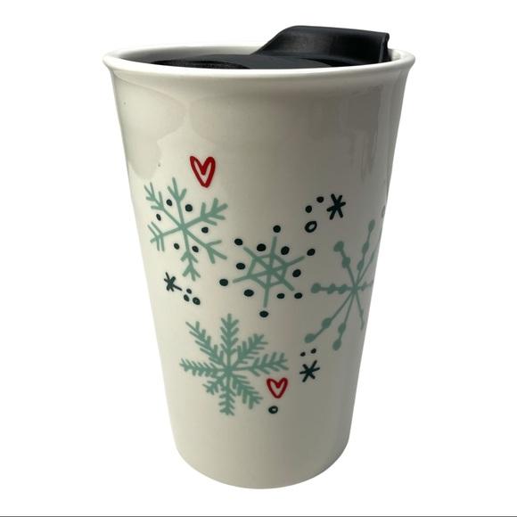 Starbucks winter tumbler ceramic holiday Christmas
